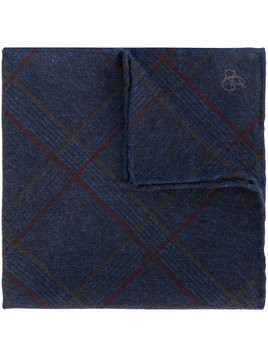 Canali checked handkerchief - Blue
