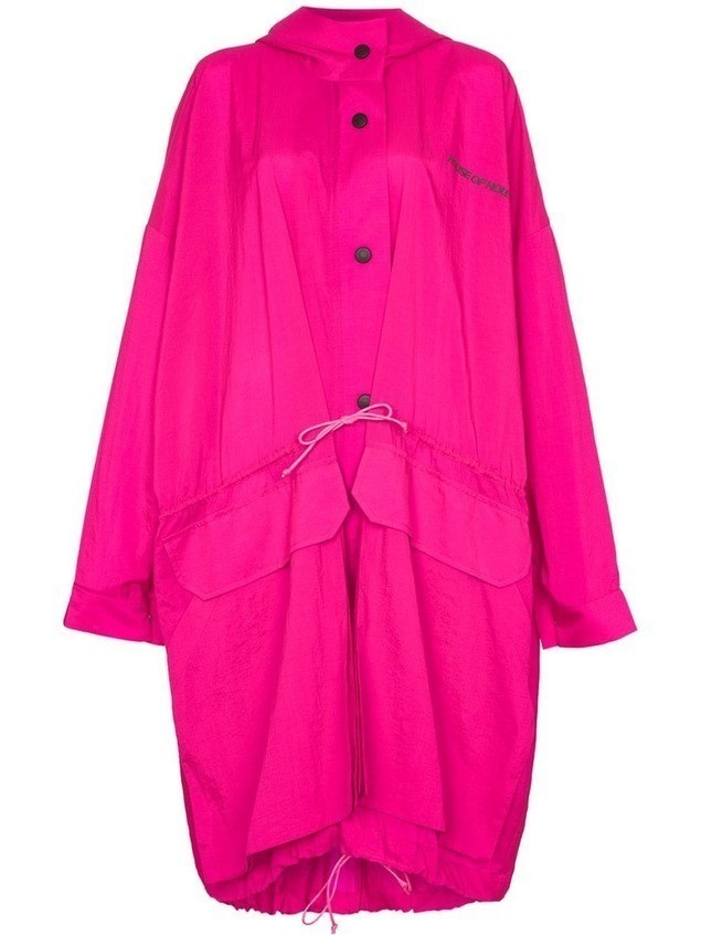 House of Holland oversized hooded raincoat - Pink