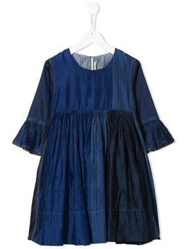 Pero Kids patchwork dress - Blue