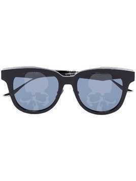 Mastermind Japan skull engraved sunglasses - Black