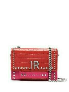 John Richmond Tenziale two-tone shoulder bag - Red