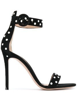 Gianvito Rossi pearl embellished stiletto sandals - Black