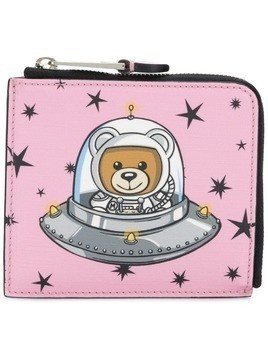 Moschino Space Teddy Bear wallet - Pink & Purple