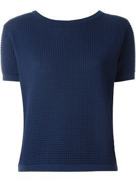 Zanone short sleeved knit top - Blue