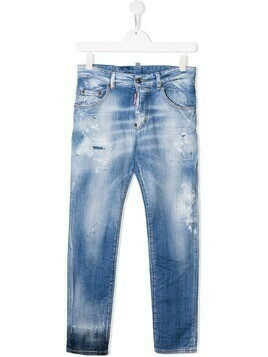 Dsquared2 Kids TEEN distressed jeans - Blue