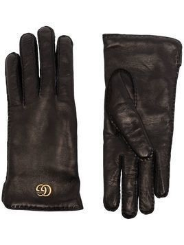 Gucci Maya Double G plaque gloves - Black