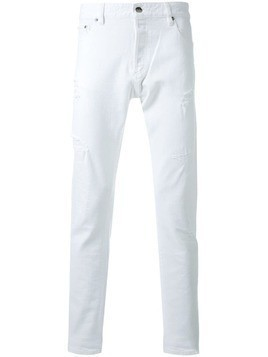 Hl Heddie Lovu distressed slim fit jeans - White