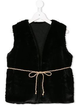 Little Creative Factory Kids faux fur tie gilet - Black