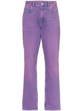Martine Rose mid rise straight leg jeans - PURPLE