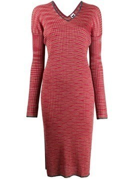 M Missoni ribbed-knit dress - Red