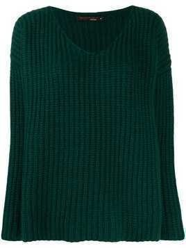 Incentive! Cashmere loose-fit cashmere sweater - Green