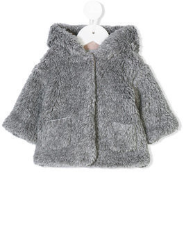 De Cavana Kids faux fur coat - Grey