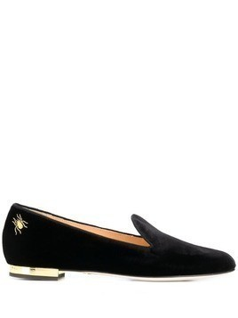 Charlotte Olympia spider ballerina shoes - Black