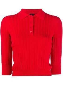 Pinko ribbed polo jumper - Red