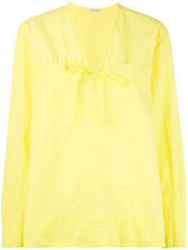 Tomas Maier v-neck tunic - Yellow & Orange