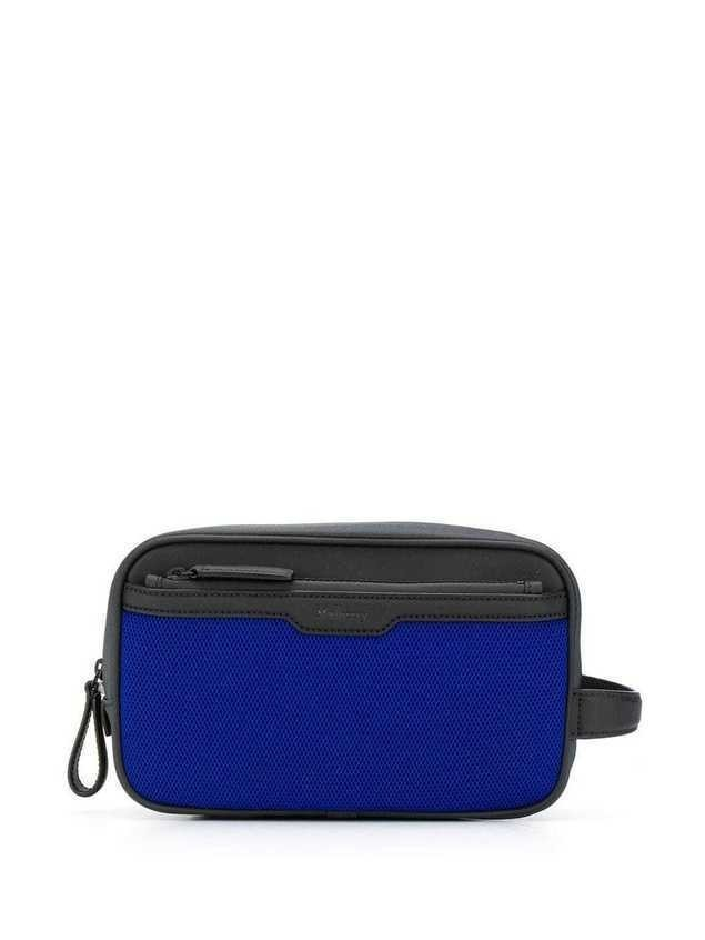 Mulberry Mesh Wash Case - Blue