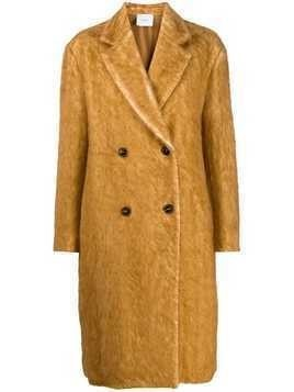 Agnona double-breasted midi coat - Brown