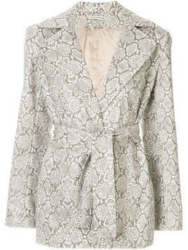 Georgia Alice snakeskin print jacket - White