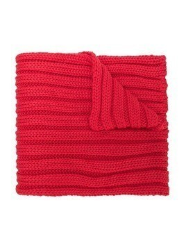 Catya Kids chunky ribbed knit scarf - Red