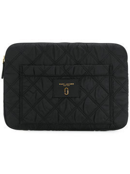 Marc Jacobs quilted logo laptop case - Black