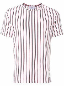 Thom Browne Tricolor Repp Stripe Jersey Tee - White