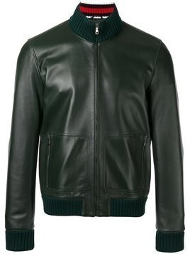 Gucci leather bomber jacket - Green