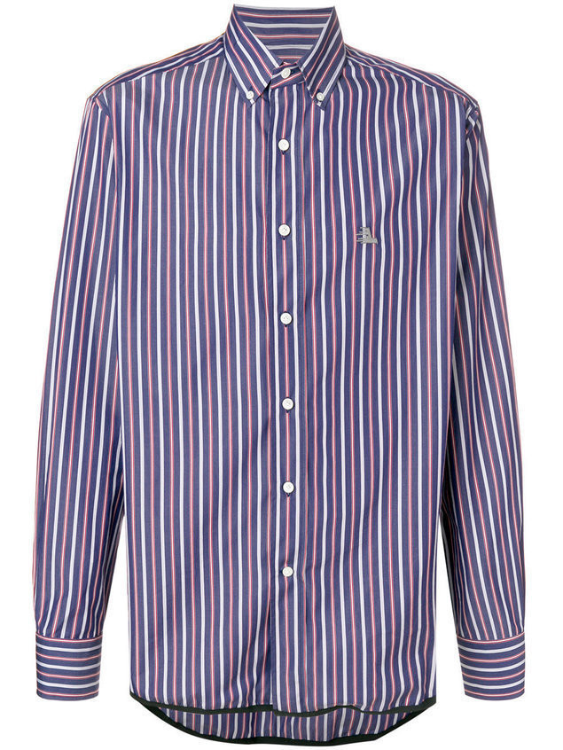 Lanvin striped print shirt - Blue