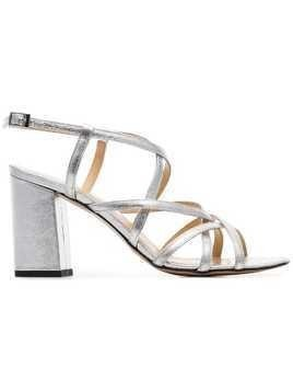 Kalda silver Pip 85 strappy leather sandals