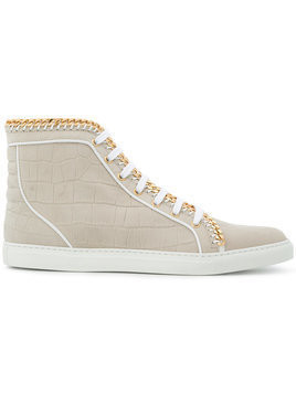Louis Leeman chain trim hi-top sneakers - Neutrals