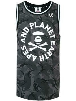 AAPE BY *A BATHING APE® camouflage tank top - Black