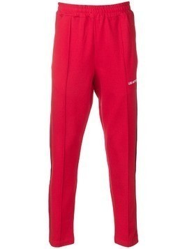 Les (Art)Ists side stripe track pants - Red