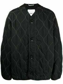 OAMC button-up quilted jacket - Black