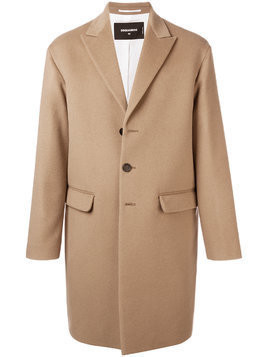 Dsquared2 longsleeved buttoned up coat - Nude & Neutrals