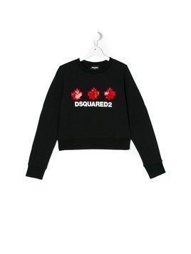Dsquared2 Kids Teen logo print sweatshirt - Blue