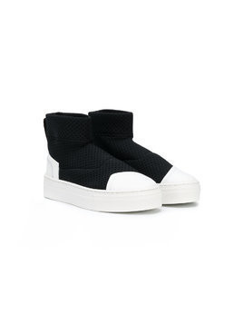 Bruno Bordese Next Generation perforated hi-top sneakers - Black
