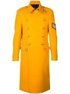 Lords And Fools double breasted military coat - Yellow