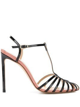 Francesco Russo heeled stiletto sandals - Black