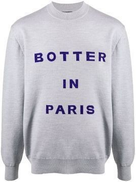 Botter logo intarsia jumper - Grey