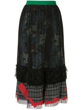 Kolor high-waisted pleated skirt - Black
