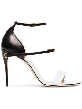 Jennifer Chamandi Rolando 105mm sandals - Black White