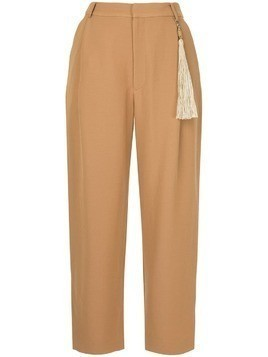 Muller Of Yoshiokubo straight leg trousers - Brown