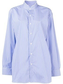 Cristaseya striped oversized shirt - Blue