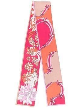 Emilio Pucci printed silk foulard - ORANGE