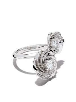 De Beers 18kt white gold Aria Toi et Moi diamond ring