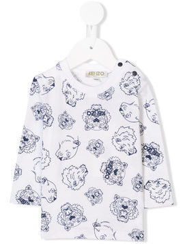 Kenzo Kids multi tiger sweatshirt - White