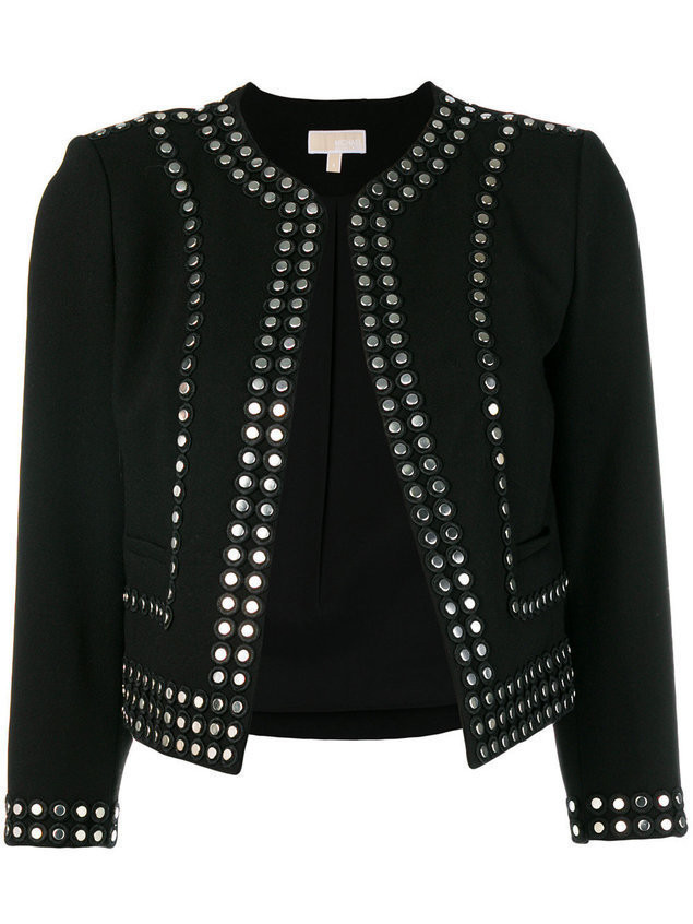 Michael Michael Kors stud embellished fitted jacket - Black