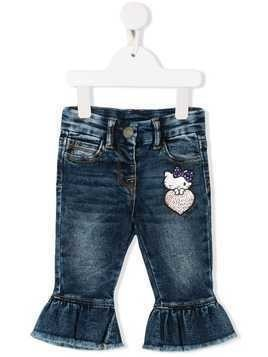 Monnalisa ruffled Hello Kitty jeans - Blue