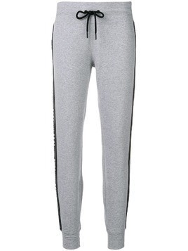 DKNY logo track pants - Grey