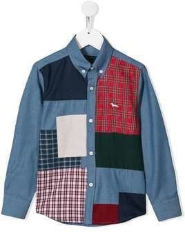 Harmont & Blaine Junior patchwork shirt - Blue