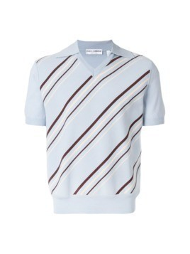 Dolce&Gabbana Vintage striped knitted polo shirt - Blue